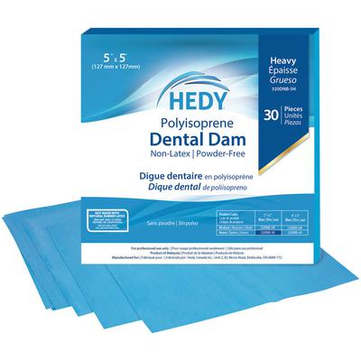 DENTAL DAM  BLUE MEDIUM Non-Latex (30) Hedy