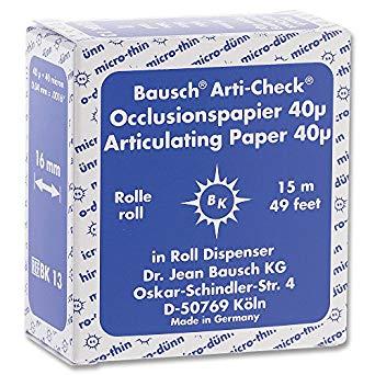 BAUSCH BK-13 EX.THIN 40 Mic. BLUE 16mm x 15m ROLL