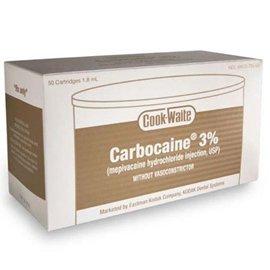CARBOCAINE (Cook Waite) 3%      HCl 50 Carp.     C510A