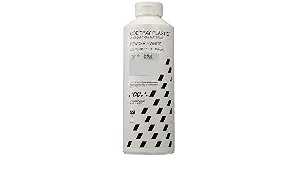 COE TRAY PLASTIC 1lb / 3lb / 25lb POWDER White    (GC)