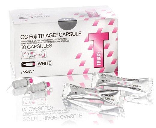 FUJI TRIAGE 50 Caps Glass Ion. WHITE (GC) #002269