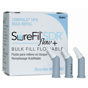 SUREFIL SDR Flow PLUS 15×0.25g'Compula Tips (DENTSPLY)