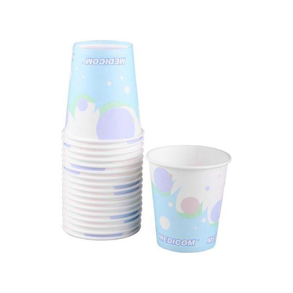 CUPS 5 oz Poly-coated Paper Bubbles Cs 1000 #115-CH (MEDICOM)