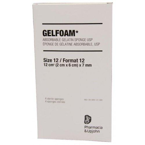 GELFOAM SIZE 12-7mm Pk/4 (2×6)cmx7mm  #03603