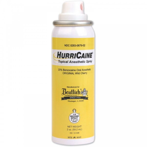 HURRICAINE  Topical 2 oz Spray+Tip  (Beutlich)  #0679-02
