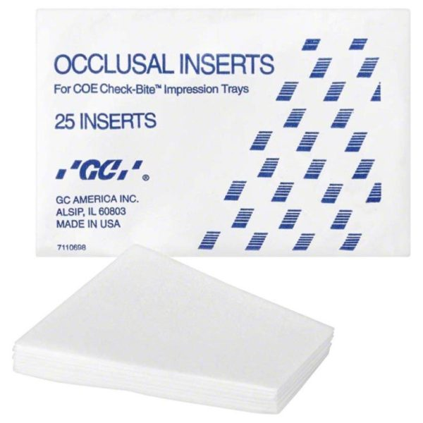 OCCLUSAL INSERTS FOR CHECK-BITE (GC) Pk/25 #262025