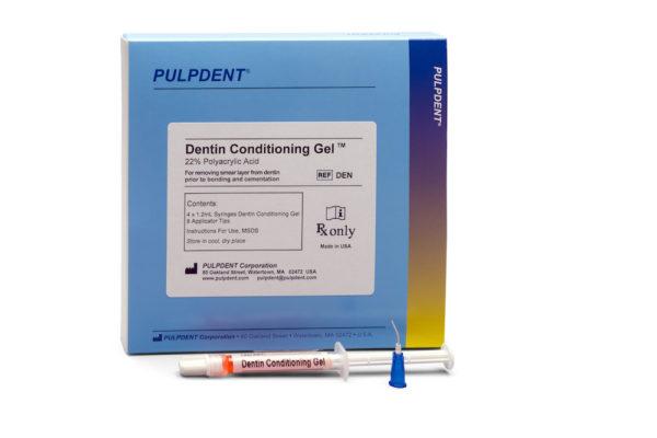 DENTIN CODITIONING #DEN  4×1.2 ml Syr+8 Tips 22% (Pulpdent)