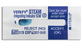 STERIS VERIFY Class 5 Steam  Integrating Indicators (500) #779-PCC067