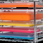 ZIRC RACK 6-Place Multi-Mod (Holds 6 Trays / 3 Tubs) #21Z105