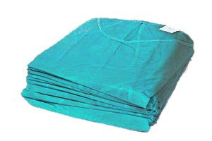 GOWNS Non-Woven ISO20-Green one size fits all (10) (Safedent)