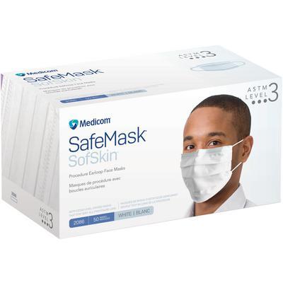MASKS #2086 Earloop SofSkin L3 White (Medicom) (50)